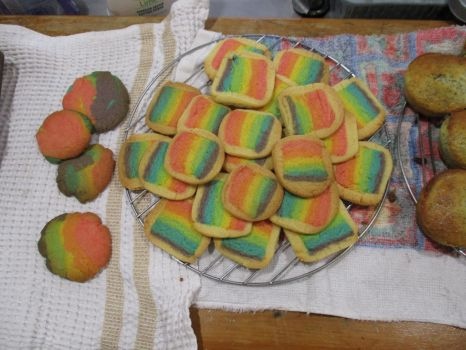 Rainbow Cookies by DJChocolate-Lover