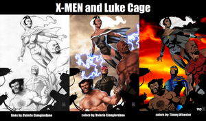X-MEN and Luke Cage by timmywheeler