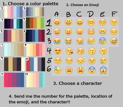 Emojie color palette chalenge by OceanCatSpirit