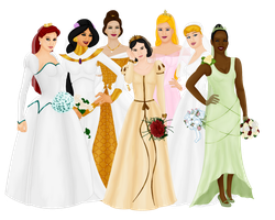 Disney Brides by FalseDisposition