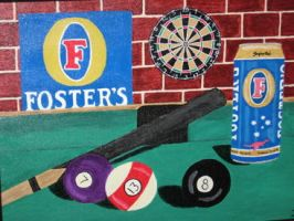 Foster's Billiards by JazIllustrations
