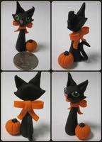 Autumn Black Cat by BethyLuv215