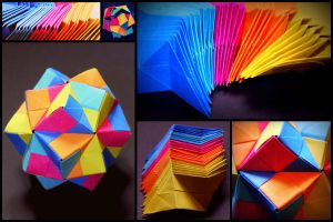 Origami Icosahedron by Blue-like-the-Sky