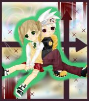 Maka and Soul by nejilovedove1 by SoruIta