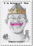 Markiplier - King of the Squirrels Stamp by SteffieNeko