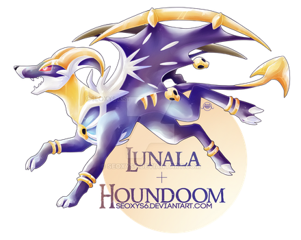Lunala x Houndoom by Seoxys6