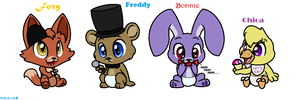 Five nights at freddy s characters by theanthropony on deviantart