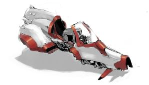 Hoverbike concept by ScathSiorai