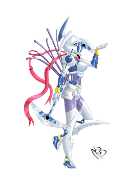 Dianamon : Moon goddess Digimon by DemianDillers