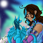 COLLAB- Kristal and Iris by LuckyDragonfly