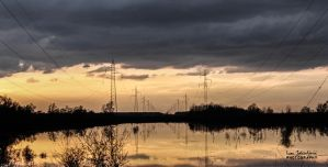 Cable Carriers Reflection by IJPhotography