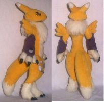 Digimon Renamon plush back by YutakaYumi