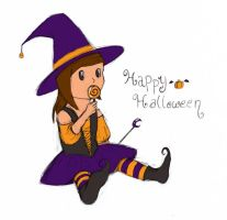 Happy Halloween, from Sharon. by flyingkittie