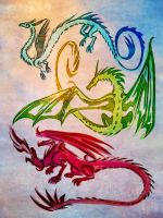 Earth Wind and Fire by Galidor-Dragon
