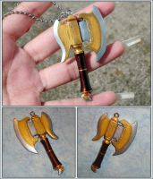 Fire Emblem - Armads Thunder Axe Charm Necklace by YellerCrakka