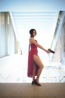 Ada Wong a top of Stairs by Karim-sama