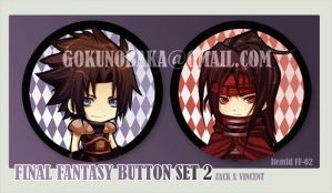 Final Fantasy Button set 2 by goku-no-baka