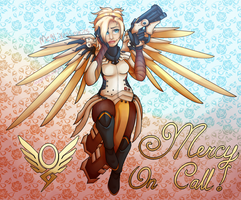 Mercy On Call (Overwatch Fanart) by MegLikesCookies