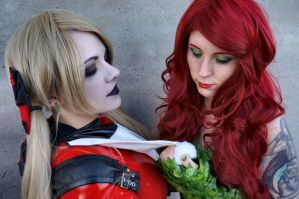 Poison Ivy and Harley Quinn 5 by Nikkimomo