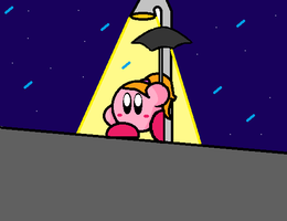 Waiting in the rain (MS Paint practise) by PoyoPoptart