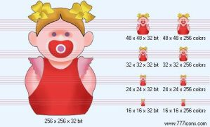 Baby-girl Icon by medical-icon-set