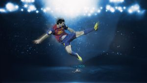 Lionel MESSI Wallpaper by MetinGraphic