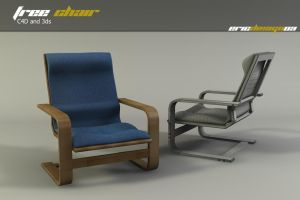 free chair c4d and 3ds by 3DEricDesign