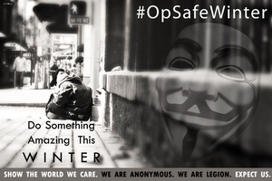 #OpSafeWinter - Anonymous by Quadraro