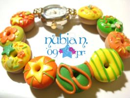 Citrusy Donut watch by colourful-blossom