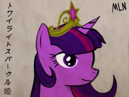 Princess Twilight Sparkle (colored) by MyLittleNinja