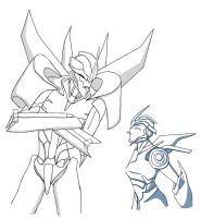 Another Arcee and Starscream by 1Bitter1SugarMixed