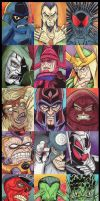 Marvel Villans Sketchcards by KileyBeecher