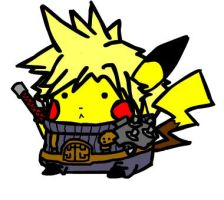 Pikachu as Cloud Strife by Ohforcryingoutloud