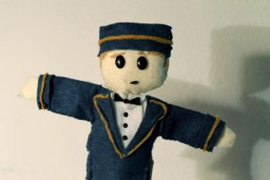 Ted the Bellhop is a Puppet by MichellePrebich