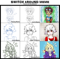 Switch Around Meme - Ukes by FeebyNeko