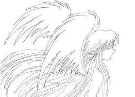 Back of an Angel Lineart by himeko