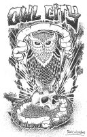 owl and bone by RidiculousArts