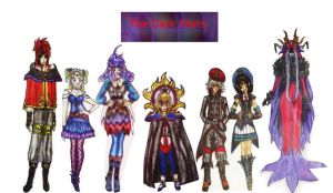 all the dark star characters by allanimerules1