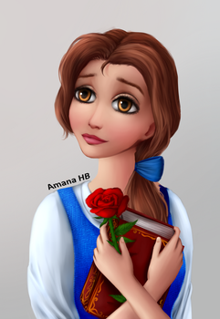 Belle from Beauty and The Beast [SpeedPaint] by Amana-Jackson