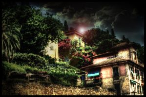Some houses in Italy HDR by TonistL