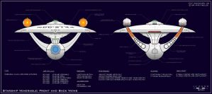 Venerable Class Explorer - Front and Back View by dcmstarships