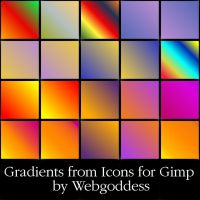 Gradients from Icons for Gimp by webgoddess