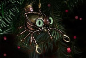 Steampunk Crab Ornament by CatherinetteRings