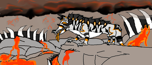 Flame Hyena's Hell by CaribouxSkull