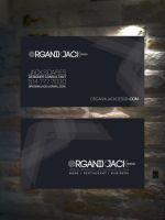 organikjack design logo+card by sounddecor
