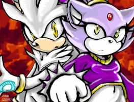Blaze and Silver by f-sonic