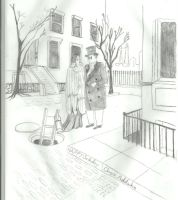 happy birthday Chas Addams by Angels-Pixie-D