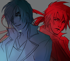 SB- Masamune and Yukimura by KageAyumuSakushi