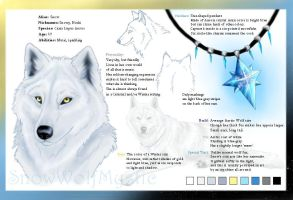 SnowWolfMystic Reference Sheet by Starcanis