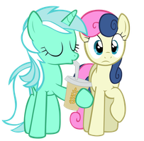 Lyra and Bonbon by Tardifice